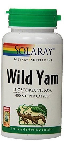 Solaray Wild Yam Root Capsules 400 Mg 100 Count