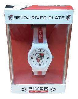 Reloj Plastico Con Caja River Plate
