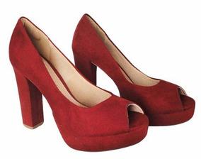 acde837264 Scarpin Mariotta Camurca Vermelho Por Feminino - Sapatos no Mercado ...