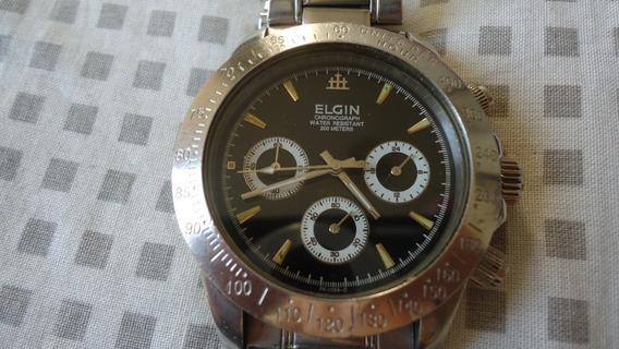 Relogio Elgin Chronograph 200 Mts Para Uso Ou Coleção