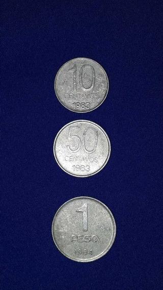 Lote 3 Monedas Peso Argentino