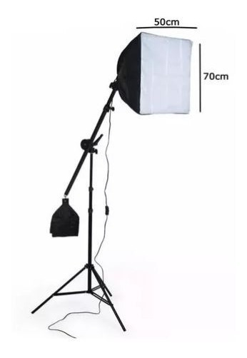 Kit Iluminação Estúdio Profissional Softbox E Girafa Kelter