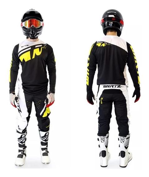 Conjunto Motocross Enduro Atv Wirtz® Elevate Yersey + Pant