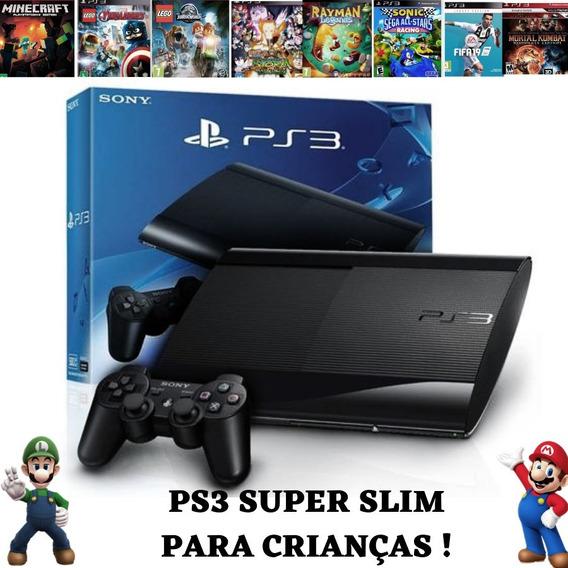 Ps3 Playstation 3 Super Slim Desbloqueado + Jogos +retrô