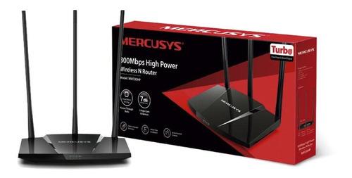 Imagem 1 de 3 de Roteador Mercusys Wireless 300mbps Alta Potencia 3 Antenas