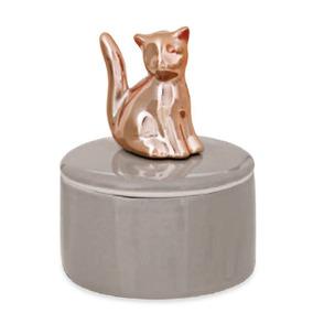 Caixa Redonda Gato Rose Gold - Mart