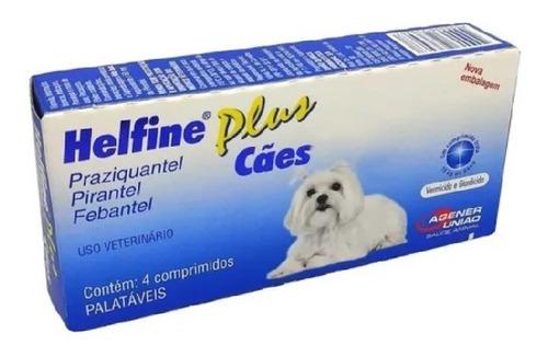 Imagem 1 de 2 de Helfine Plus Para Cães Vermífugo Agener União
