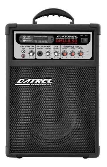 Caixa de som Datrel DMU-8.50 portátil sem fio Preto 127V/220V