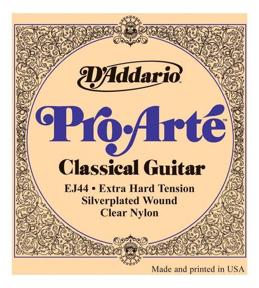 Cuerdas Para Guitarra Clasica Daddario Ej44 Extra Hard
