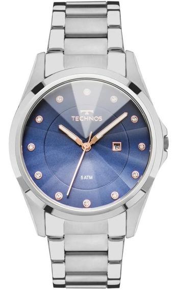 Relógio Technos Feminino Crystal Luxo Swarovski Gn10at/1a Nf