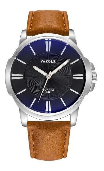 Reloj Para Hombre Con Caja Y Almohada Elegante Casual Yazole