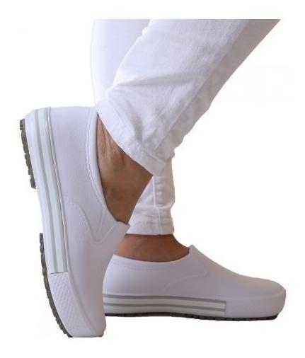 Sapato: Tênis Branco De Enfermagem Soft Works Bb80- Unissex