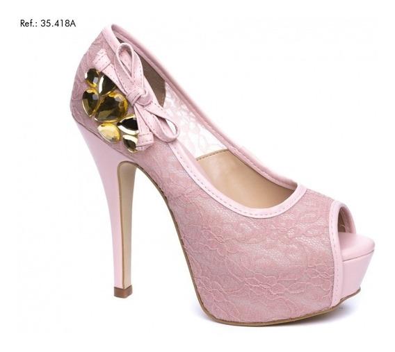 Sapato Meia Pata Torricella Salto 13 Cm - 35418a - 03