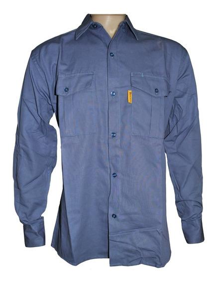 Camisa De Trabajo Gaucho Azulino