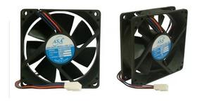 Micro Ventilador 80x80x25 Asafan Cooler 12v 80mm 3100 Rpm