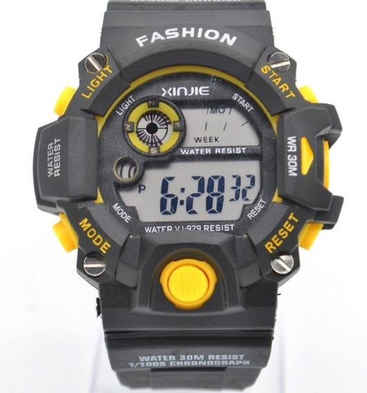 Reloj Quarzo Xinjie/huiying X-sport Amarillo Deportivo
