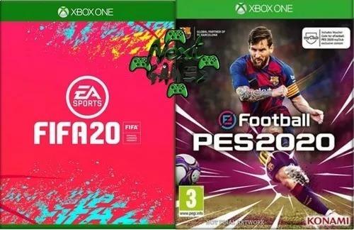 Fifa 20 + Pes 2020 - Xbox One - Midia Digital - Online