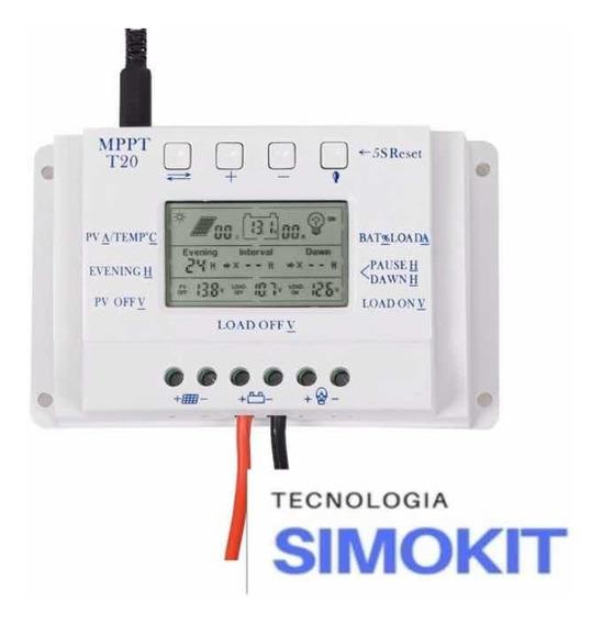 Controlador De Carga Solar Mppt 20a Amperes Pwm 12v E 24v Of