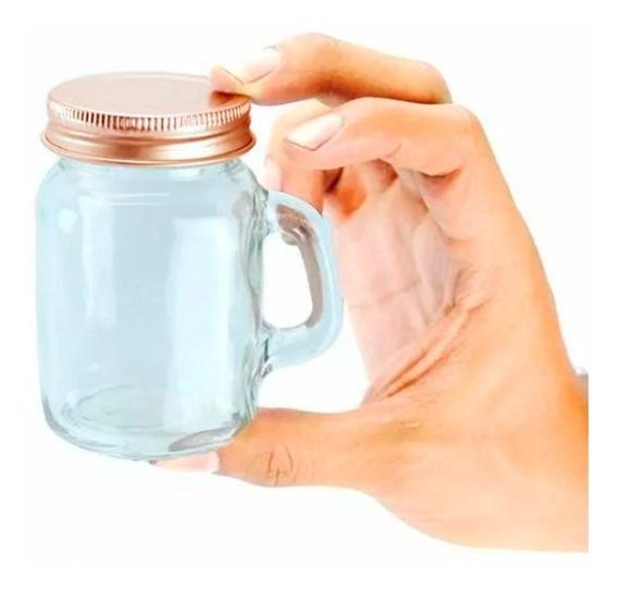 36 Pack Mason Jar Mini Con Asa 4 Oz Vaso Frasco Tarro Vasito