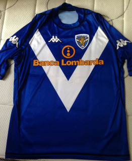 Camisa Kappa Brescia Calcio 03/04 #10 Roberto Baggio