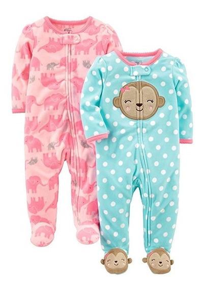 Set 2 Mamelucos De Pijama Para Su Bebe Niña 3 Marca Carters