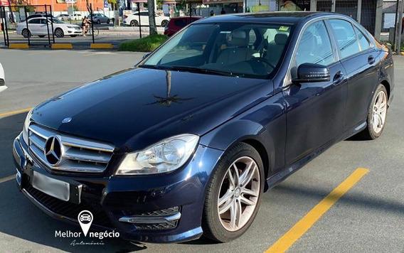 Mercedes-benz C-180 Sport Cgi 1.6 156cv Tb Aut. 2013 Azul