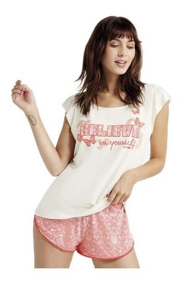 Pijama De Verano Femenino Short Y Musculosa. So Pink