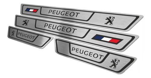 Cubre Zocalos Acero Inoxidable P/ Peugeot 207 307 407 206