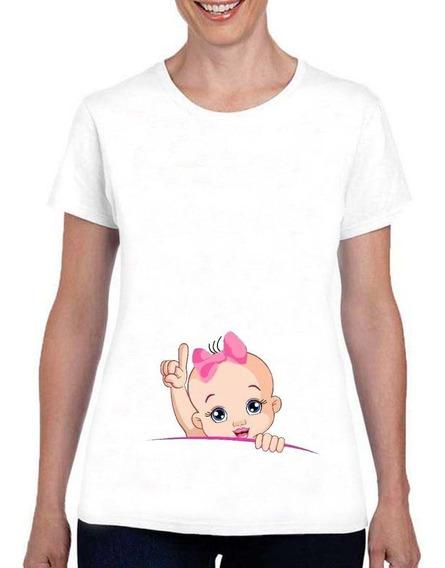 Remera Dama Baby Shower Embarazada Bebe Varios Modelo 21