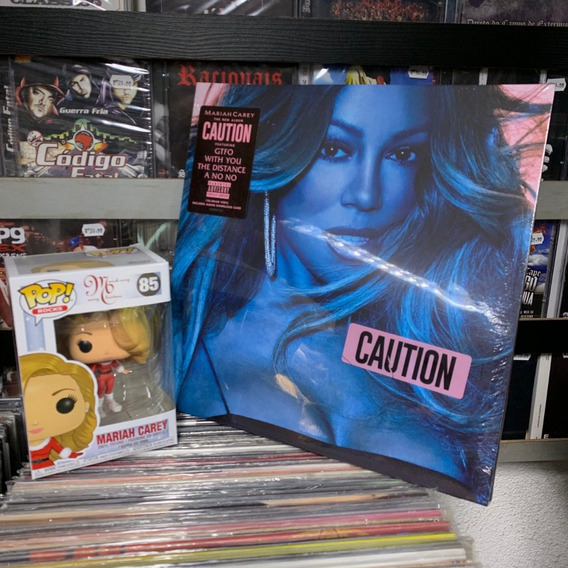 Kit Lp E Boneco Mariah Carey Caution Lp Importado Lacrado