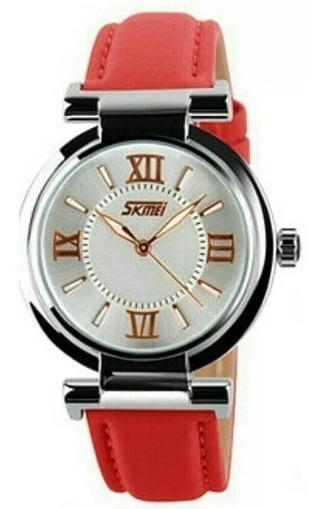 Relógio Feminino Skmei Analógico 9075 Vermelho