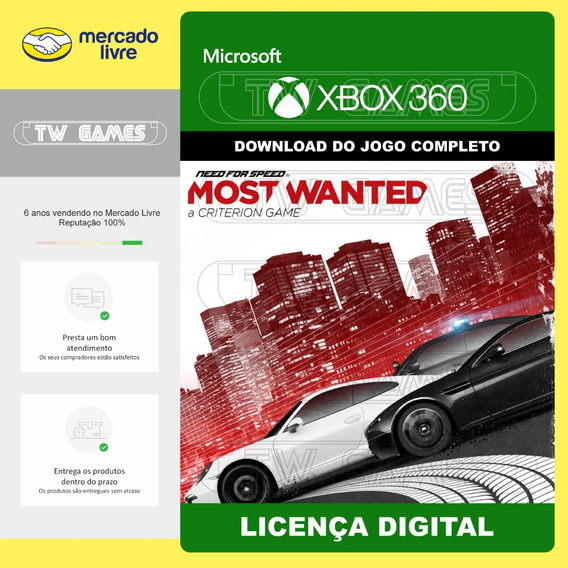 Nfs Need For Speed Most Wanted Digital Xbox 360