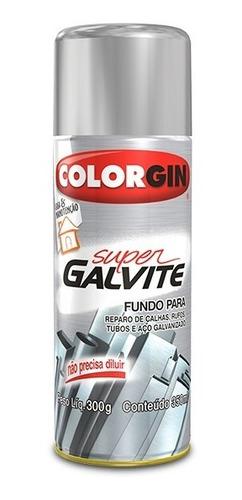 Imagem 1 de 1 de Tinta Spray Super Galvite Colorgin - Fundo Para Galvanizados