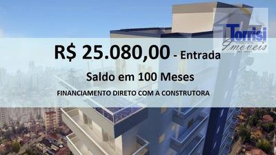 Apartamento Em Praia Grande, Flat 01 Dormitório, Sala, 01 Vaga Com Lazer No Boqueirão Ap1603 - Ap1603