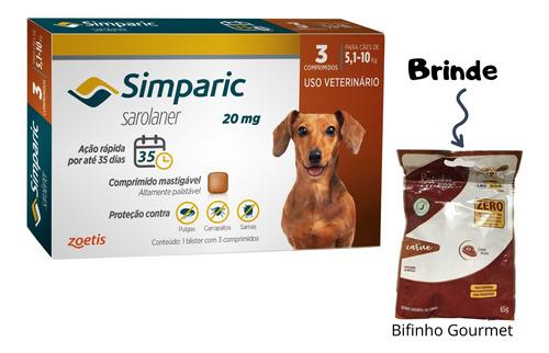 Antipulgas Simparic Poodle  5 A 10 Kg Com Bifinho
