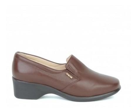 Zapato Onena Mujer Piel Café-negro 4201