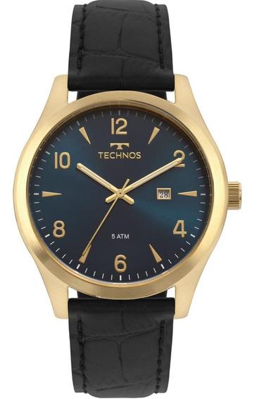 Relógio Technos Masculino Clássico Puls. Couro 2115mrx/2a