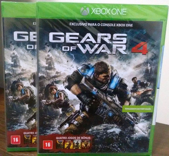 Gears Of War 4 + Jogos Bônus Xbox One Mídia Física Lacrada