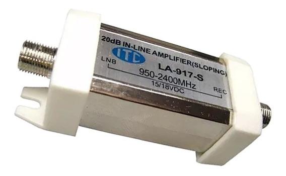 Amplificador Sinal Satelite Itc Parabólica Banda C E Ku 20db