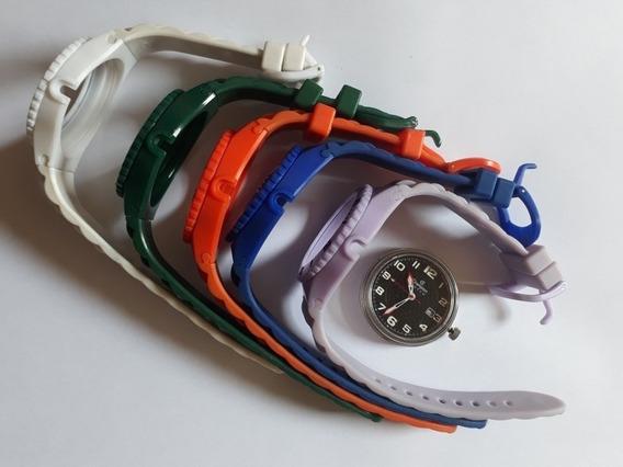 Relógio Champion Watch Preto Com 5 Pulseiras