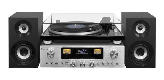 Toca - Discos Raveo Concert One Vitrola Cd Usb Fm Bluetooth