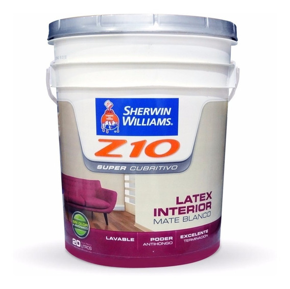 Z10 Supercubritivo Pintura Interior Mate 20lts Sherwin