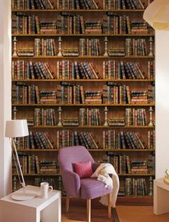 Vinil Decorativo Libros, Biblioteca, Estante, Estudio