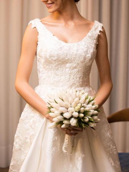 Vestido De Noiva Off White Princesa Zibeline Mikado