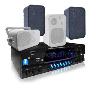 Combo Música Funcional Consola Aw1611 Bluetooth Usb+4 Bafles