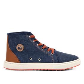 f6324abb412 Tênis Infantil Cano Alto Jeans Molekinho 2813105