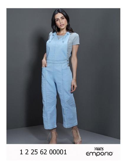 Macacão Jardineira Feminina Empório Jeans Com Lycra - Ee3545