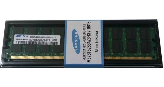 Memoria Ram Ddr2 4gb 800mhz Samsung Pc2 6400u Dimm Solo Amd