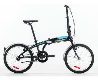 Bicicleta Plegable Rodado 20 Futura R20 Origami Negro