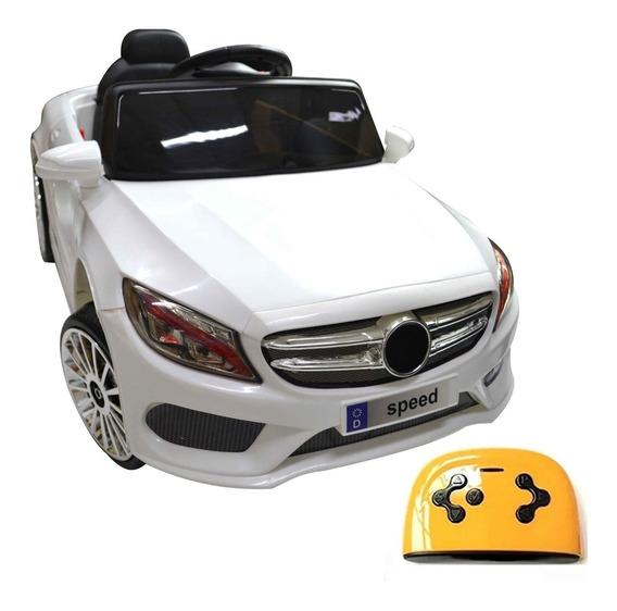 Carro Elétrico Infantil Mercedes Recarregável Com Controle
